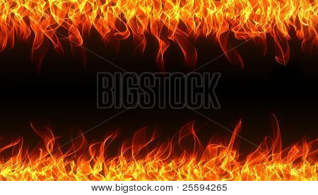 Seamless fire and flame border