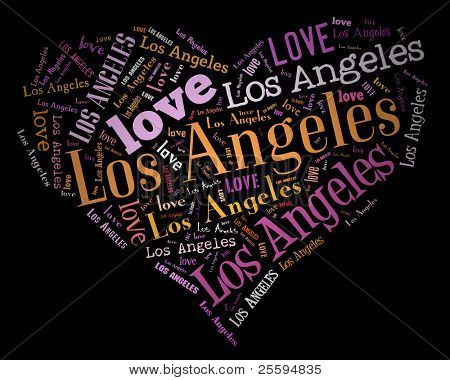 Wordcloud: love heart of city Los Angeles