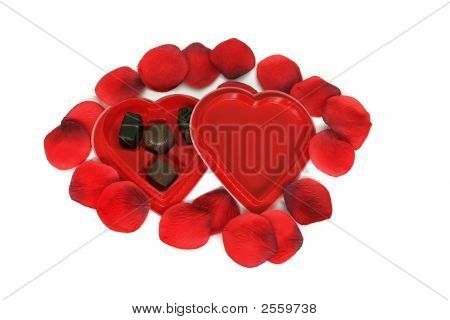 Heart Candy And Rose Petals