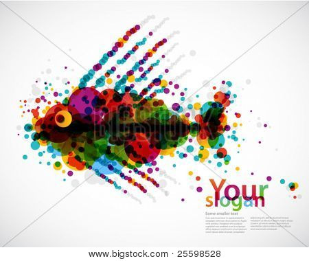 abstract circle background - fish
