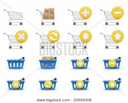 Shopping carts and baskets