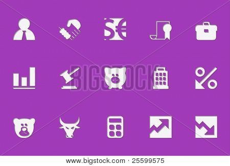 finanzielle Symbole. Sie sehen aus wie in gedrückt werden. eignet sich für jeden beliebigen Hintergrund. Verwenden sie auf einem wh