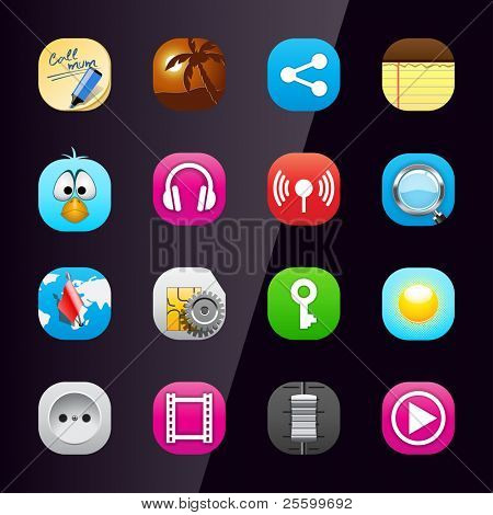 Mobile phone icons | Bella series 3