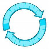 Refresh Icon. Cartoon Illustration Of Refresh Icon For Web Design poster