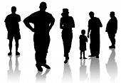 foto of person silhouette  - group of individuals on a white background - JPG