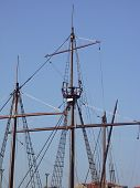 foto of cartographer  - Replica of a sixteenth century ship that portuguese used in the time of discovery - JPG