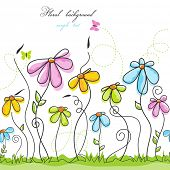 Colorful summer floral background