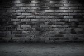 Stone Wall Dark Night Alley Quiet Street For Background poster