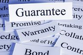 Guarantee Concept - A Conceptual Look At A Guarantee, Warranty, Bond, Contract, Surety, Collateral P poster