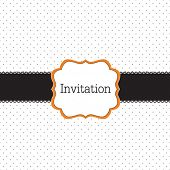 Polka dot design with black elements, vector frame