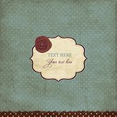 Постер, плакат: Винтажные карточка Blue с Роуз