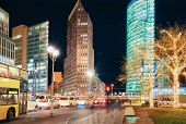 Potsdamer Platz Square With Christmas Decoration In Winter Berlin, Germany. poster