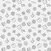Writer Vector Minimal Seamless Pattern Or Background poster