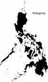 picture of luzon  - Black Philippines map separated on the departments - JPG