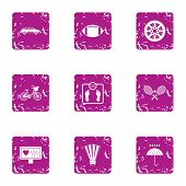 Worry Icons Set. Grunge Set Of 9 Worry Vector Icons For Web Isolated On White Background poster