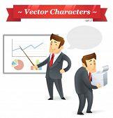 Постер, плакат: Векторные знаки Бизнес набор 2