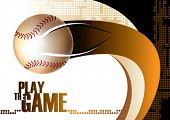stock photo of hitter  - Baseball poster background - JPG