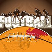 Football background with designed artwork. Vector illustration.