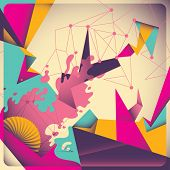 Colorful retro abstraction. Vector illustration.