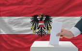 Man Voting On Elections In Austria