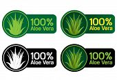 100% Aloe Vera Seals, Stickers