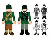 picture of xx  - American and German WWII Soldier Character Figures - JPG