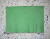Blank Green Paper With Tear Off Tabs poster