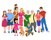 stock photo of niece  - big family - JPG