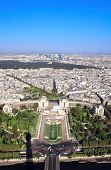 View from the Eiffel Tower on Paris, Palais de Chaillot, Trocadero and Siene river poster