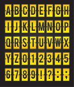 Yellow sleek vector abc flipping panel