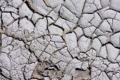 Texture, Background Of Dry Cracked Earth Ground. Global Shortage Of Water On Planet. Deep Cracks In poster