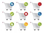 image of internet shop  - Shopping icons for e - JPG