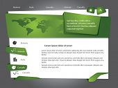 Green Vector web site design template