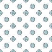 Volleyball Pattern. Cartoon Illustration Of Volleyball Pattern For Web poster