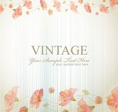 vector vintage background with flowers