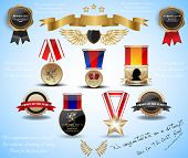 big set medals and award. vector 10 eps