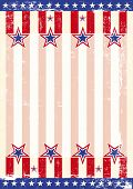 stock photo of arriere-plan  - A grunge background with an american flag for a poster - JPG