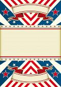 Patriotic leaflet An american poster with a frame for your message