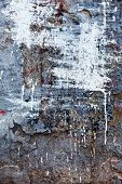 Background Texture Wall With Peeling Old Paint. Old Wooden Background With Remains Of Pieces Of Scra poster