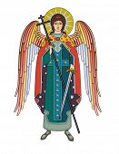 stock photo of archangel  - Vector icon of Archangel Michael - JPG