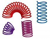 pic of bouncing  - colorful 3d springs - JPG