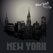 New York-Original-Zeichnung
