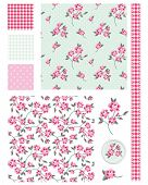 Vintage Shabby Chic Rose Seamless Patterns.  Use to create fabric projects or design elements for sc
