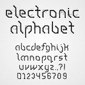 foto of byte  - Electronic Alphabet With Numerals - JPG