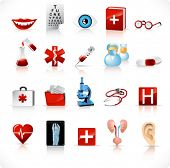stock photo of roentgen  - medical icons set 2 - JPG