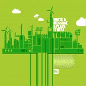 stock photo of sustainable development  - green eco town - JPG