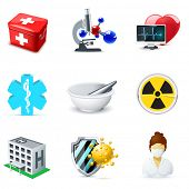 stock photo of roentgen  - Medical and health care icons  - JPG
