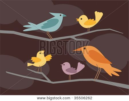 vector bird set 4
