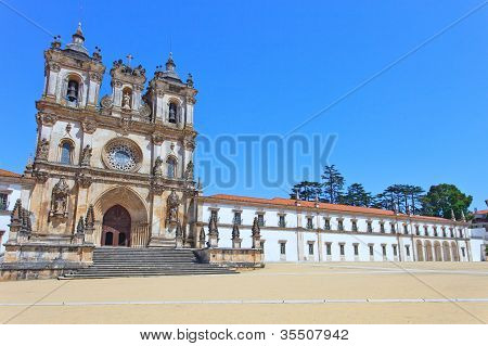 Alcobaca Monastery And Church. Unesco Site, Portugal