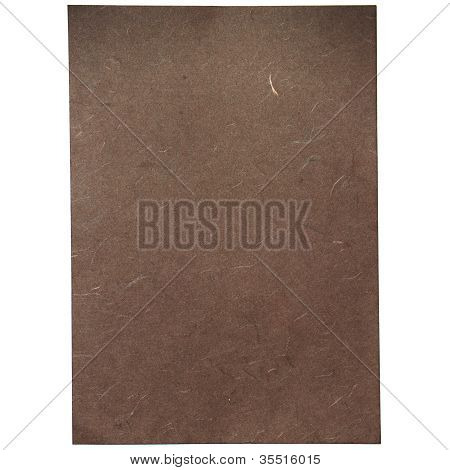 Brown Rice Paper Texture On White Background